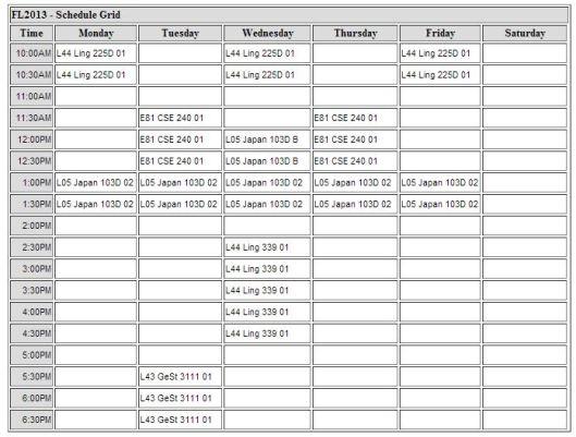 FL2013 schedule
