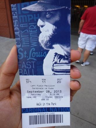Cardinals vs. Cubs ticket